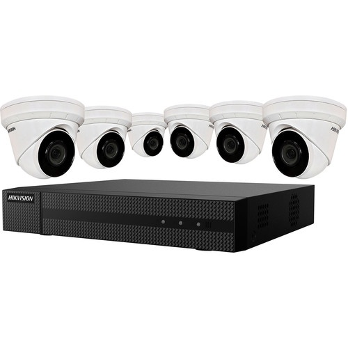 Hikvision�EKI-K82T46 8-Channel 8MP NVR with 2TB HDD & 6 4MP Night Vision Turret Cameras Kit